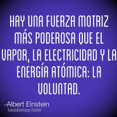 Frase de voluntad -Albert Einstein
