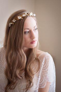Greek Goddess Flower Crown Laurel Leaf Headpiece by AnnaMarguerite
