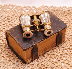Opera Glasses Lemaire FI Paris Mother of Pearl 1800s