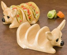 People who say I'm hard to shop for maybe don't know where to buy chihuahua taco holders. HA! YES PLEASE!