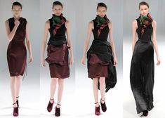 Rise Autumn Winter 2013 collection by Hussein Chalayan - this is one dress - unsnap, pull, etc. and it turns into the other three designs - brilliant!