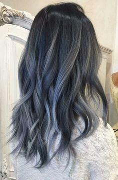 63 stunning examples of brown ombre hair - Hairstyles Trends Hair Dye Colors, Ombre Hair Color, Cool Hair Color, Brown Ombre Hair, Blue Hair, Black Hair With Ombre, Ash Hair, Aesthetic Hair, Brunette Hair