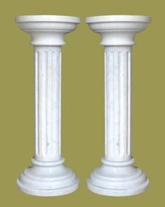 Marble columns your home decor in white and grey color.