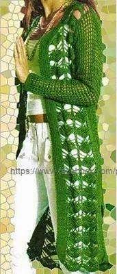 Tejidos realizados con amor para ti ...: Tapado color verde.