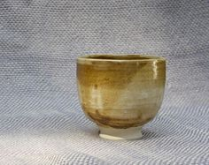 small once-fired cup in stoneware by Amy Myers