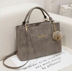 2016 Fashion Design Women Handbag Matte PU leather Good quality Shoulder