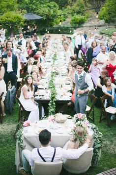 boho bohemian sweetheart table with pretty upholstered chairs | Photography: Onelove Photography - onelove-photo.com Read More: http://www.stylemepretty.com/2014/11/07/ojai-pink-garden-wedding/