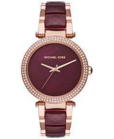 Michael Kors Women's Parker Two-Tone Stainless Steel and Acetate Bracelet Watch 39mm MK6412 | macys.com