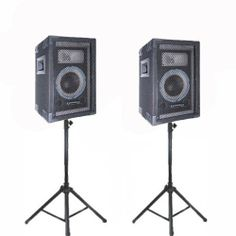 """VRTX6PR Speakers and Stands Technical Pro PA DJ Audio Set New VRTX6PRSET1 by Technical Pro. $157.99. SpecificationsBrand New Pair of Technical Pro VRTX6PR Speakers1 Pair of Passive Speakers1000 watts peak power per pairWoofers: 6.5"""" woofers, 1"""" voice coil, 10 oz. magnetInputs: 1/4"""", BananaTweeters: Piezo 7.5"""" x 3"""" hornsImpedance: 8 ohmsSensitivity: 98 ±2dB (1W@1M)Full Length perforated steel grills2 Integral carry handlesReinforced cornersWeight: 34 lbs per pairNew Adjustable S..."""