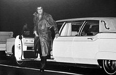 March 26, 1976. Elvis stops to check out a highway accident in Memphis.