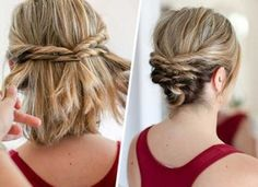 Nice and Classy Short Hair Updos for Special Days