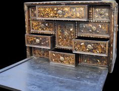 This chest, made in Japan towards the end of the sixteenth century specifically for the Portuguese market, is a fine example of what is known as Namban lacquerware.