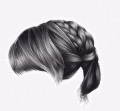 Hair Drawings by Brittany Schall (United States)