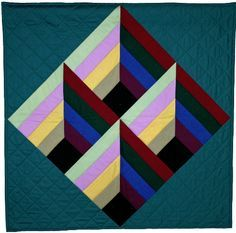 """Contemporary Amish, 33 x 33"""", by Sara Rumbaugh at Quilt for a Cause"""