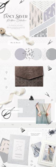 Fancy Silver Pattern Collection by Julia Dreams on  creativemarket  Графические Узоры, Искусство Графического Дизайна 142538c1e3c