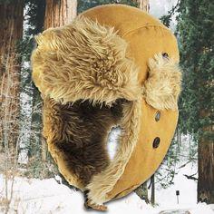 c4bf62665d72e Khaki Canvas Vegan Fur Ushanka Aviator Eskimo Trapper Hat