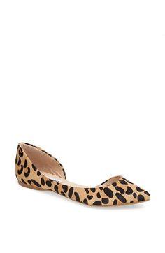 leopard print flat / steve madden