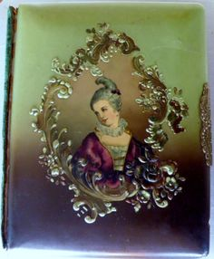 French Victorian Photo Album, Celluloid, Beautiful Lady.