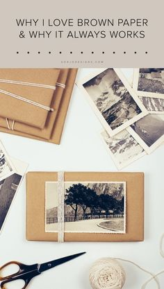 Why I love brown paper & why it always works — Gorjo Designs #brownpaper #gift #present #wrapping #giftwrap #events