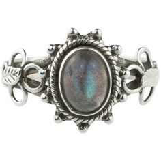 MAUDE Sterling Silver Labrodorite Ring ($48) ❤ liked on Polyvore featuring jewelry, rings, blue ring, blue jewelry, sterling silver jewelry, sterling silver rings and sterling silver jewellery