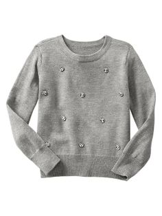 Gotta get Cora in one of these jeweled sweaters ; Winter Fashion, Kids Fashion, Back To School Outfits, Girly Things, Style Guides, Jewel, Gap, Pullover, Sweatshirts