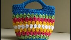 YouTube Video - cluster stich bag crochet tutorial