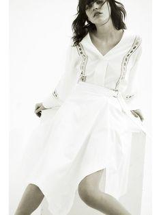 アシンメトリーラップスカート(膝丈スカート) FRAY I.D(フレイアイディー) ウサギオンライン公式通販サイト