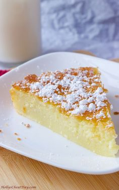A delicious crustless custard pie. Custard Desserts, Custard Cake, Pudding Desserts, No Bake Desserts, Easy Desserts, Delicious Desserts, Coconut Custard, Custard Pies, Lemon Custard