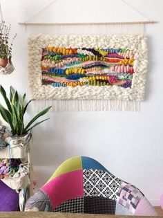 Eva's Doodlings Hand Woven Wall Hanging Tapesrty, Wall art, Home decor, made to order Crochet Wall Hangings, Weaving Wall Hanging, Weaving Art, Tapestry Weaving, Loom Weaving, Tapestry Wall Hanging, Hand Weaving, Rug Loom, Art Mural