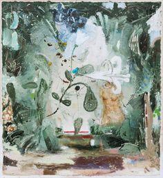 Jardin, Öl auf Leinwand, 70 x 65 cm, 2011