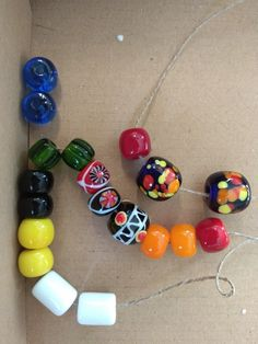 glass beads from Hedeby and Kaupang made by Entwerkstatt