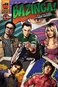 TV & Film posters - Comic book style Big Bang Theory poster featuring the cast of the popular TV science nerd comedy. Featured on this Big Bang Theory poster are Leonard, Sheldon, Penny, Wolowitz and Koothrappali. Big Bang Theory, The Big Bang Theroy, The Big Theory, Tbbt, Howard Wolowitz, Poster Online, Comic Poster, Book Posters, Art Posters