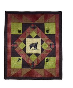 Another great find on #zulily! Black & Rustic Red Bear's Paw Throw #zulilyfinds