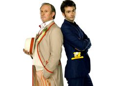 The 5th doctor and the 10th doctor. Father in law and son in law