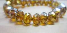 Amber Brown AB Crystal Rondelle Beads 8mm 1 by OverstockBeadSupply