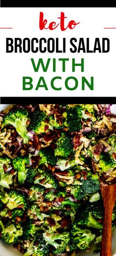 This Low Carb Broccoli Salad with Bacon is so easy to make and the perfect recipe for your low carb diet! Lightly sweetened with swerve, this delicious recipe has crunchy bacon and pumpkin seeds. #KetoBroccoliSalad #LowCarbRecipes Healthy Recipes For Weight Loss, Healthy Dishes, Healthy Salad Recipes, Healthy Foods, Low Carb Broccoli Salad, Low Carb Taco Salad, Sugar Free Recipes, Keto Recipes, Low Carb Maven