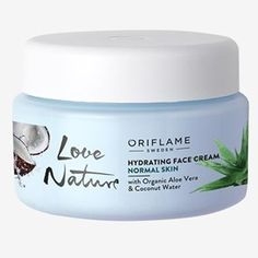 Hydrating Face Cream with Organic Aloe Vera & Coconut Water Hydrating Face Cream with Organic Aloe Vera & Coconut Water Day Cream – Skin Care Oriflame Beauty Products, Oriflame Cosmetics, Organic Water, Organic Aloe Vera, Hydrating Face Cream, Alcohol, Skin Care Cream, Facial Cream, Tips Belleza