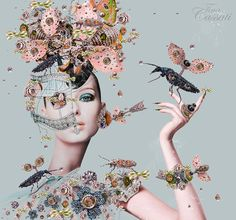 Face Collage, Collage Portrait, Surreal Photos, Surreal Art, Collages, Brow Artist, Flower Collage, Photoshop, Pop Surrealism