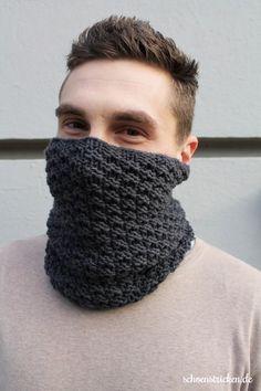 Strickanleitung: Einen Männer Loop stricken + Knitting a Boyfriend Loop/Cowl (german) - schoenstricken.de