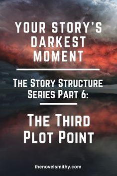 The Third Plot Point is where your conflict will finally catch up to your characters and where the antagonist will reassert their power after the Midpoint. Writing Prompts For Writers, Book Writing Tips, Writer Tips, Writing Words, Fiction Writing, Writing Resources, Writing Help, Writing Skills, Writing Corner