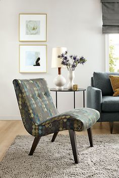 Delia Chair in Tegan Fabric - Jasper Sofa with Chaise - Living - Room & Board