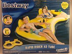 Bestway Rapid Rider X2 River/Lake Tube-Cooler Z Cooler Bag & Inflata-Shield-New #Bestway