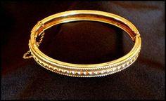 Whiting Davis Goldtone Hinged Bracelet ..  $32