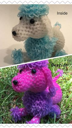 Color Changing Poodle Rubber Band Figure by BBLNCreations on Etsy Loomigurumi Amigurumi Rainbow Loom