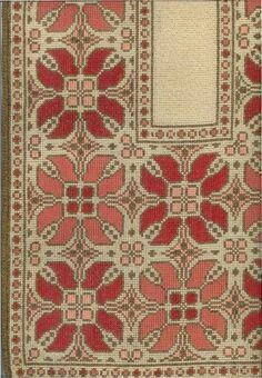 Needlepoint Stitches, Needlework, Beaded Embroidery, Cross Stitch Embroidery, Cross Stitch Freebies, Palestinian Embroidery, Filet Crochet, Repeating Patterns, Rugs On Carpet