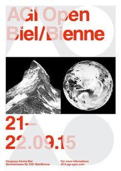AGI Open is an annual two-day conference for students and professionals that coincides with the annual AGI members' congress. AGI Congress 2015 will take place in Biel/Bienne, Switzerland on 21–22 September 2015