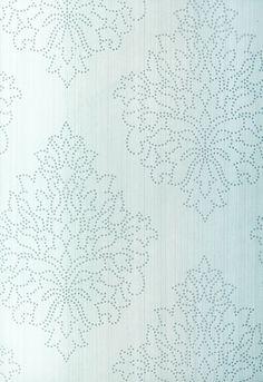 Beaded Damask Wallpaper | Modern Glamour Wallpaper | Schumacher Wallpaper Australia