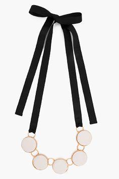 MARNI Lily White Calf Bone Necklace