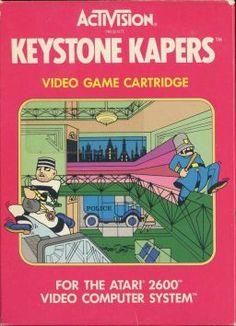 Activision Keystone Kapers Box Art - Game for Atari 2600 Vintage Video Games, Classic Video Games, Retro Video Games, Video Game Art, Retro Games, Video Clip, Donkey Kong, Pac Man, Arcade Games