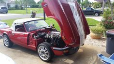1979 Triumph Spitfire 1500 Red And White Stripes Gary Maue